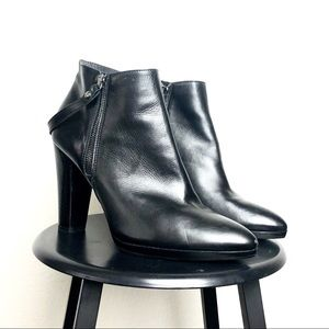 Stuart Weitzman Double Zip Stacked Heel Ankle Boot